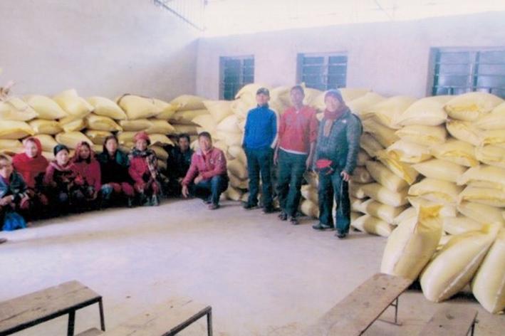 コロナ禍におけるネパール食糧支援